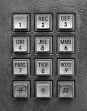 image of mechanical telephone keypad